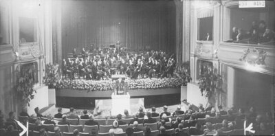 Inauguration Kultuurkamer, Royal Theatre, The Hague, May 30, 1942 (source: NIOD/WWII Image Bank)