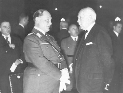 Minister-president Göring and componist Strauss at the opening of the German Kulturkammer, September 5, 1936 (bron: NIOD/Beeldbank WO2)